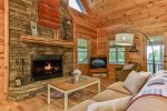 Comfortable seating at the fireplace or enjoy some TV together