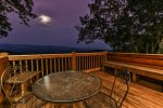 Enjoy a romantic evening on the private upper level deck