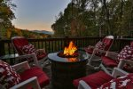 Firepit with mountain views