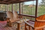 Mountain views to enjoy while relaxing on the deck