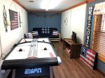 Basement game room with Air Hockey