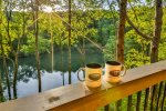 Enjoy your morning coffee on the deck