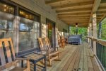 Enjoy life on the deck at Reel`em Inn