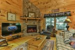 Main level bathroom with walk-in shower