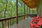 Hot tub over looking the Cartecay River