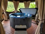 Soak Away In The Hot Tub At Chloe`s Lake Lodge
