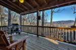 Main Level Porch With Hot Tub & Grill