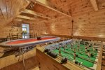 Loft game area foosball, poker, & game table