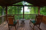 A private deck off the master bedroom