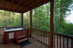 Hot Tub in the screened-in patio