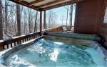 Relax in the hot tub and enjoy the beautiful views of the North Georgia Mountains