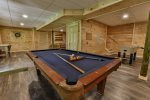 Pool table located in the game room