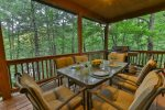 Outdoor dining area on the deck