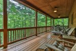 Additional deck seating to relax with the sounds of nature