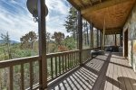 Lose yourself in the views while enjoying the tire swing on the covered deck