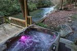 View of the Ellijay River from the hot tub
