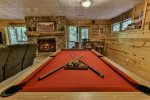 Enjoy a game of pool in the spacious terrace level game room.