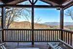 Upstairs king master with private deck and mountain views
