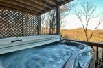 Hot tub overlooking the North Georgia Mountains