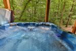 Soak away your cares in this hot tub