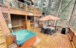 Deck overlooking the Cartecay River