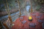 Fire pit by the Cartecay River
