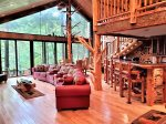 Great room with overlooking the Cartecay River