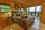 King Master Bedroom upstairs with a private deck