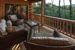 Private deck seating area