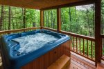 Large Hot Tub deck area overlooking the mountains