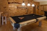 Custom pool table in the GUEST HOUSE