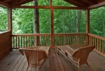 Private deck off the king size master bedroom