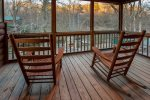 Private deck off the master bedroom overlooking the Cartecay River