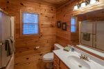 Full Master bathroom with a tub/shower combo