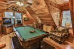 The Pool Table In The Loft Area