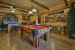 Great Room with pool table