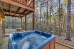 View of the hot tub