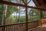 Walk out on the covered deck and enjoy the North GA Mountains