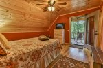 Upper level Queen bedroom with private bath and deck access