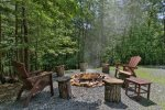 Outside fire pit area