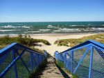 Blue stairs to Lake Michigan - South Beach