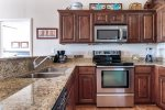 Granite countertops in the kitchen