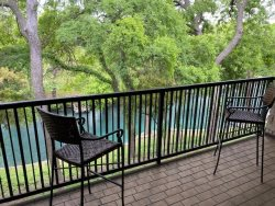 CW C213 - Comal RIVER VIEW Camp Warnecke Condo. Double Balcony!