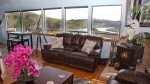 Hummingbird Cottage Living Room to River Estuary View