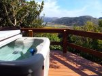 Hummingbird Cottage Hot Tub on Lower Deck