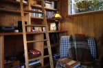 River View Cottage Living Room Library of Books & Games