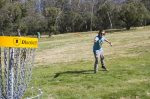 Disc golf on Jindabyne lake foreshore