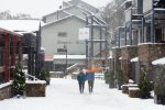 Walk in the snow at Thredbo and enjoy shopping