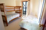 Lakehaus at Tyrolean downstairs bedroom for 3 guests with our luxury linen