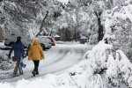 Walk in the snow at Thredbo
